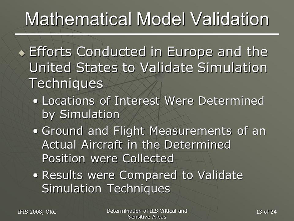 Mathematical Model Validation