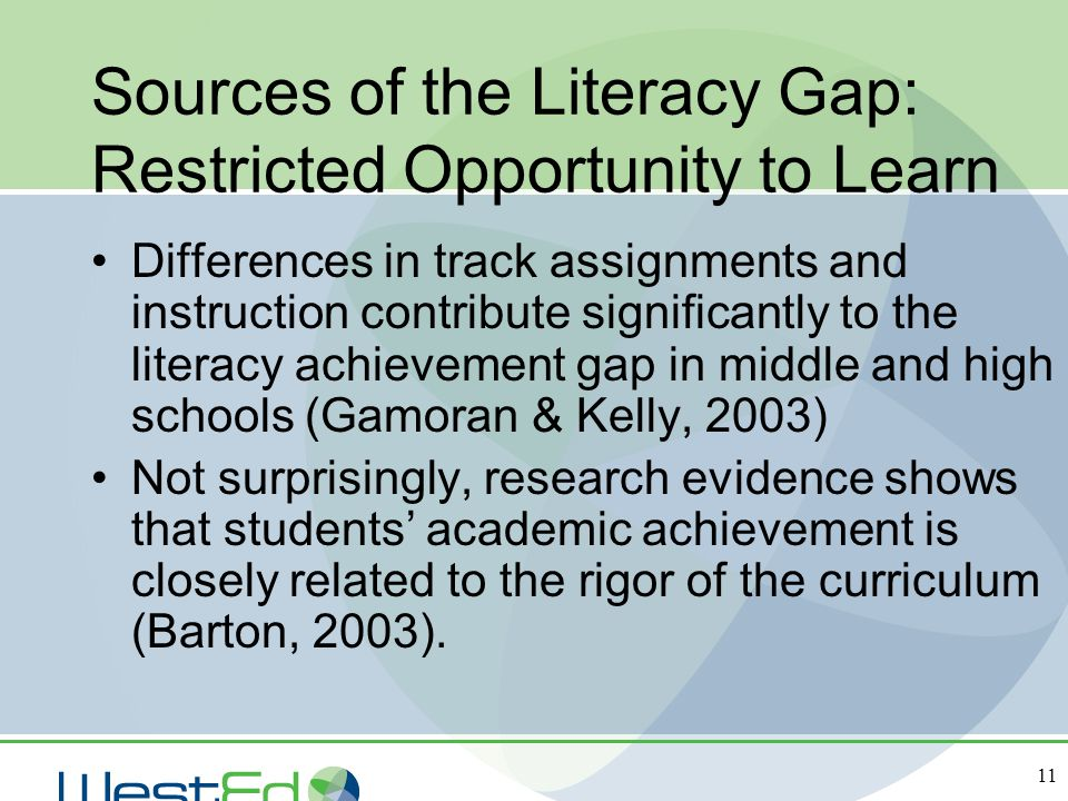Sources of the Literacy Gap: Restricted Opportunity to Learn