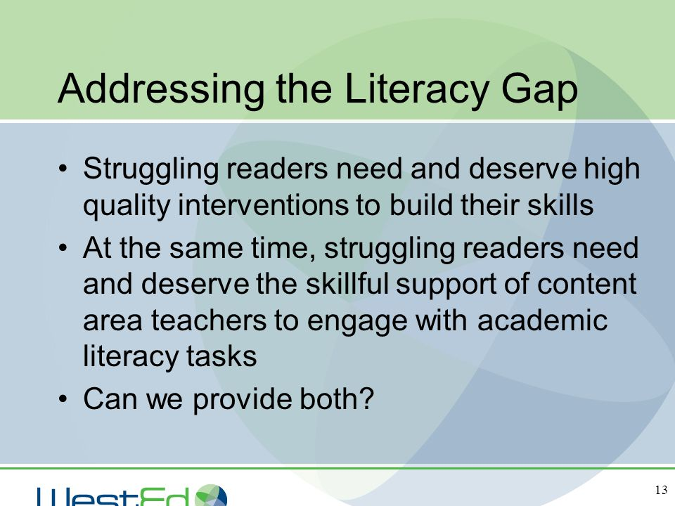 Addressing the Literacy Gap