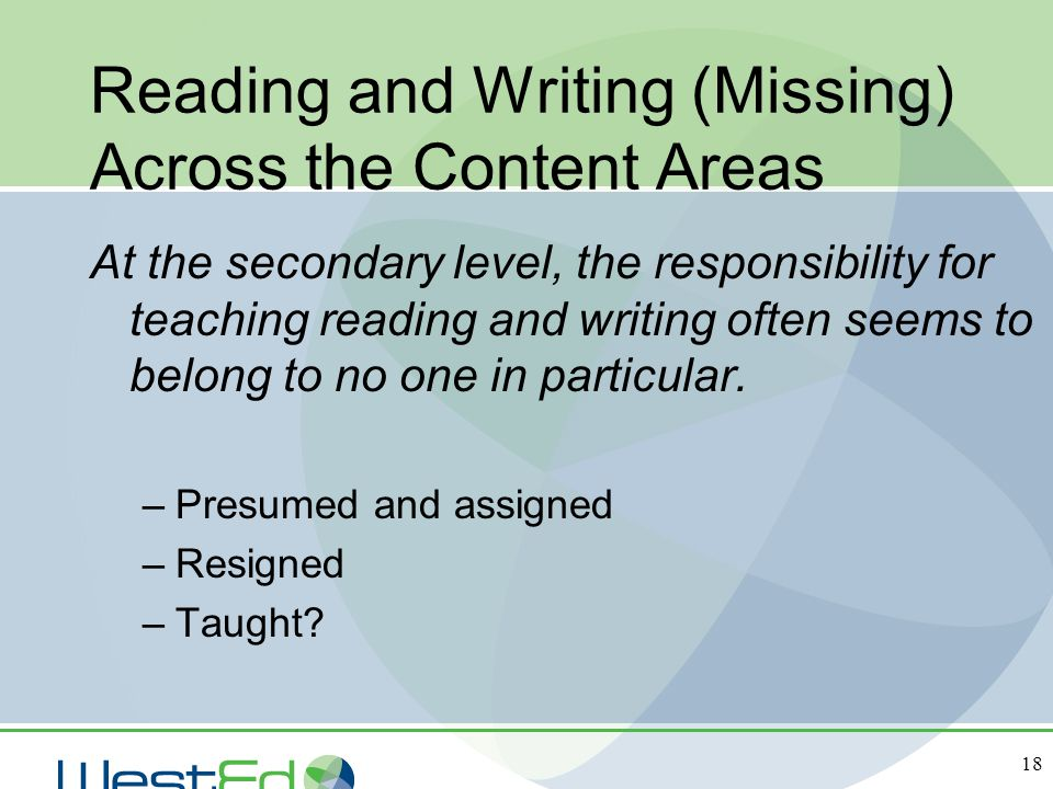 Reading and Writing (Missing) Across the Content Areas