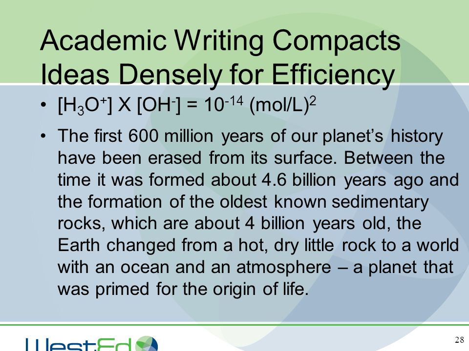 Academic Writing Compacts Ideas Densely for Efficiency
