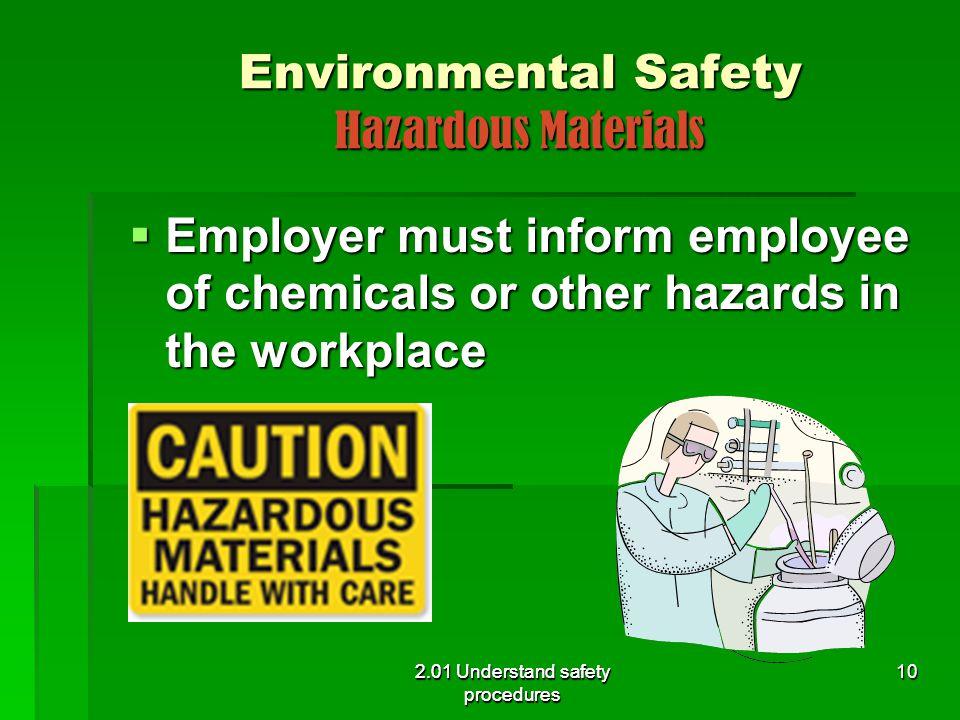 Environmental Safety Hazardous Materials