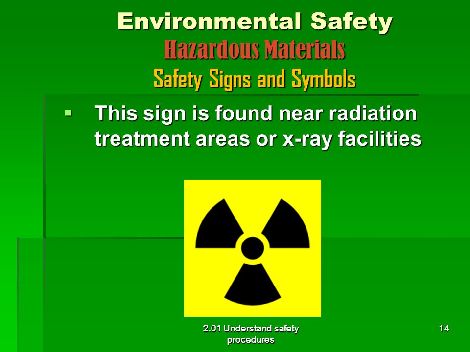 Environmental Safety Hazardous Materials Safety Signs and Symbols