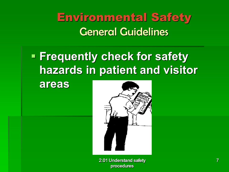 Environmental Safety General Guidelines