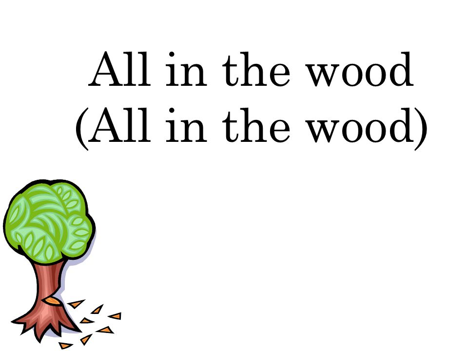 All in the wood (All in the wood)