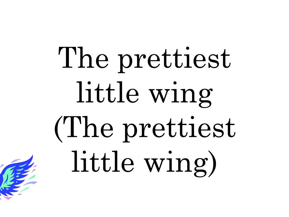 The prettiest little wing (The prettiest little wing)