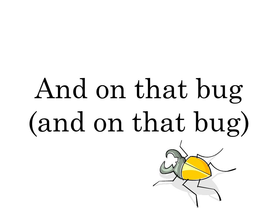 And on that bug (and on that bug)