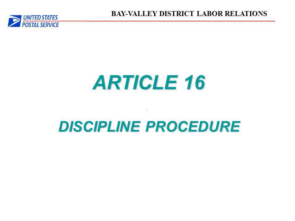 03/24/03 ARTICLE 16 DISCIPLINE PROCEDURE 1