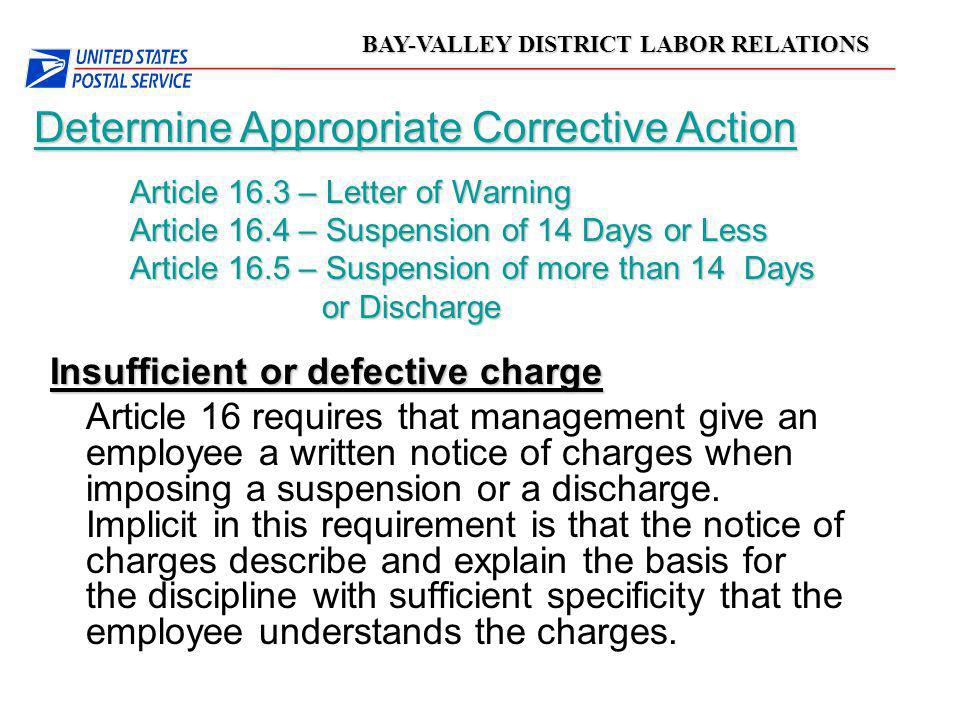 Determine Appropriate Corrective Action