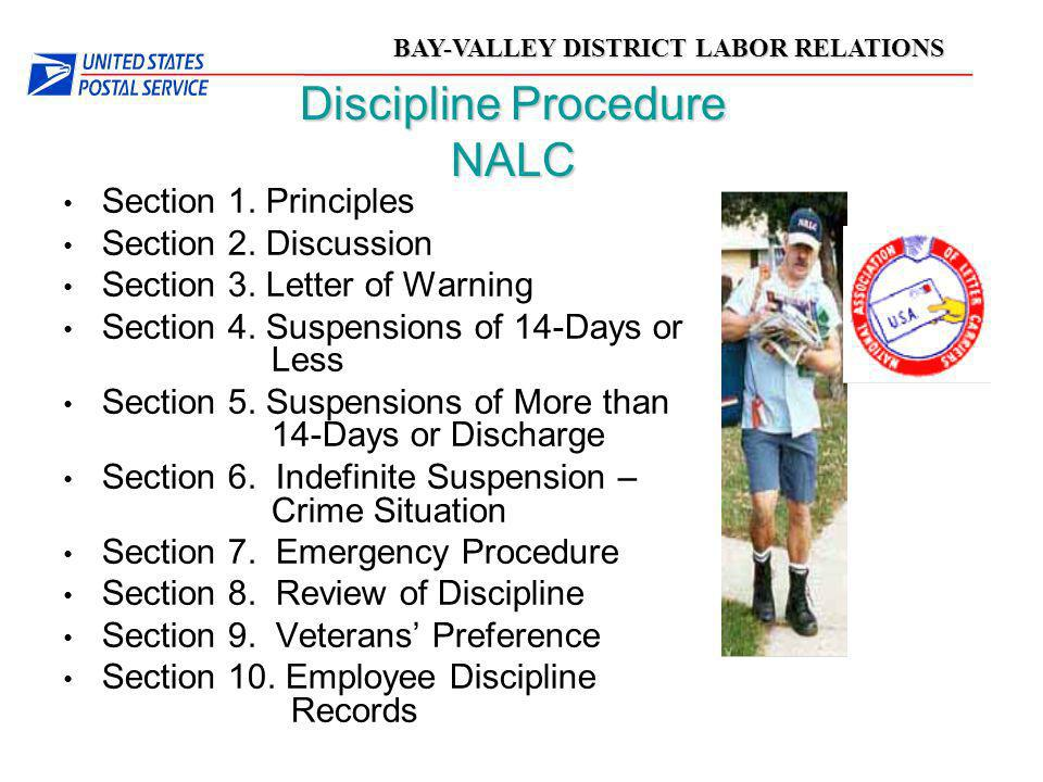 Discipline Procedure NALC
