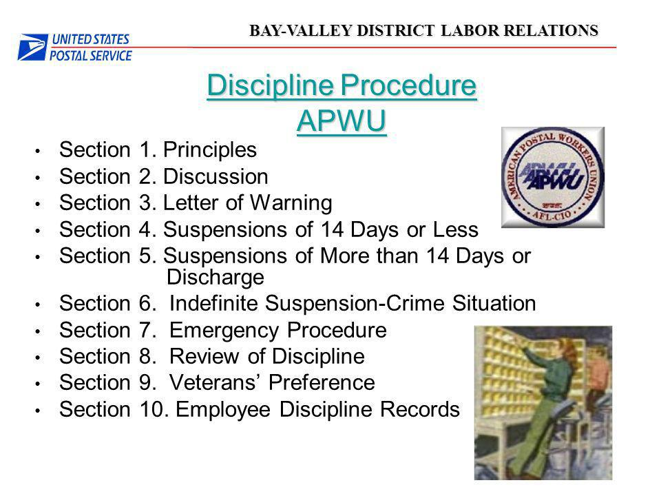 Discipline Procedure APWU