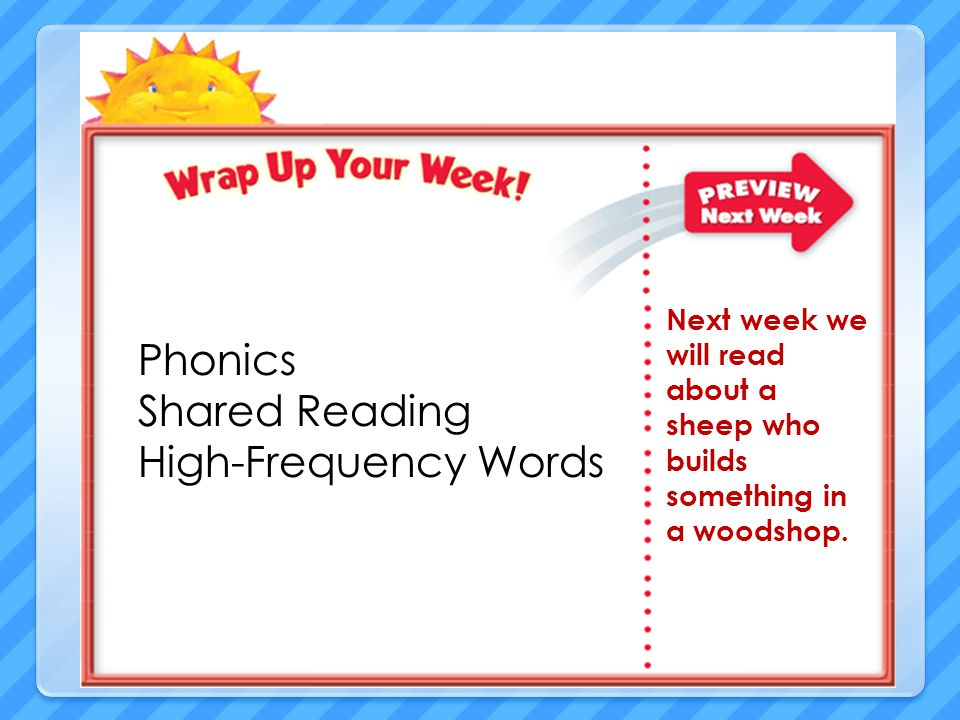 Phonics Shared Reading High-Frequency Words