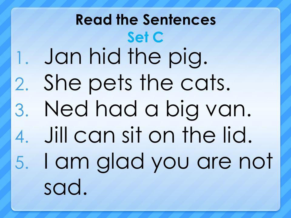 Read the Sentences Set C