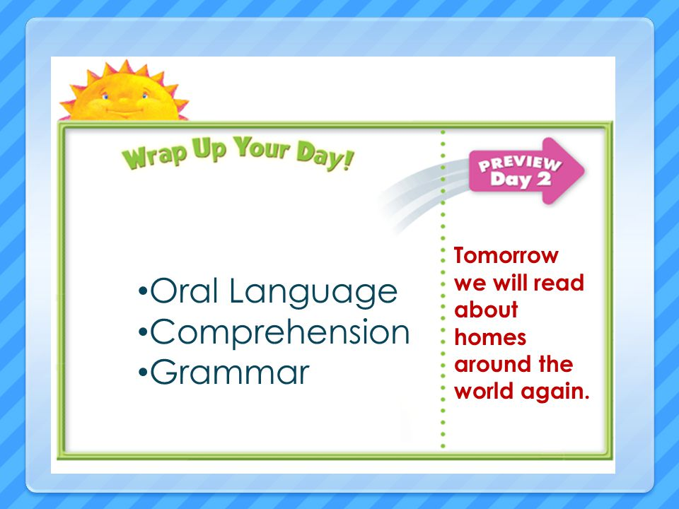 Oral Language Comprehension Grammar