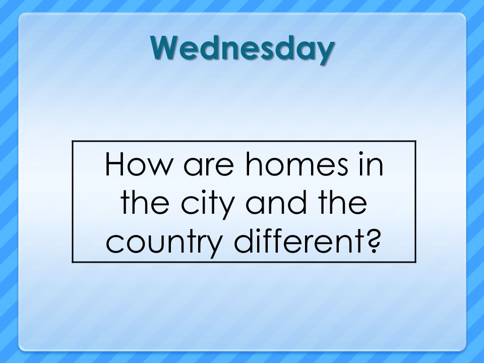 How are homes in the city and the country different