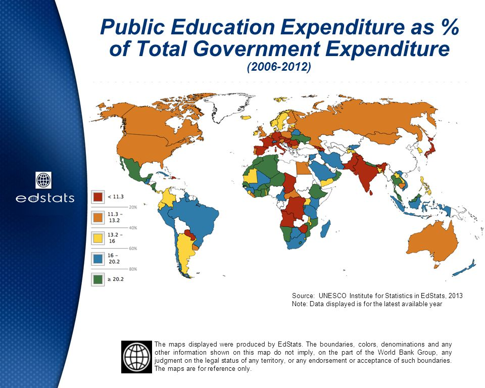Public Education Expenditure as % of Total Government Expenditure ( )