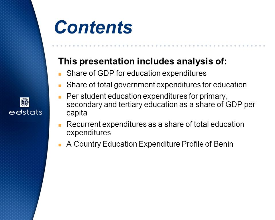 Contents This presentation includes analysis of: