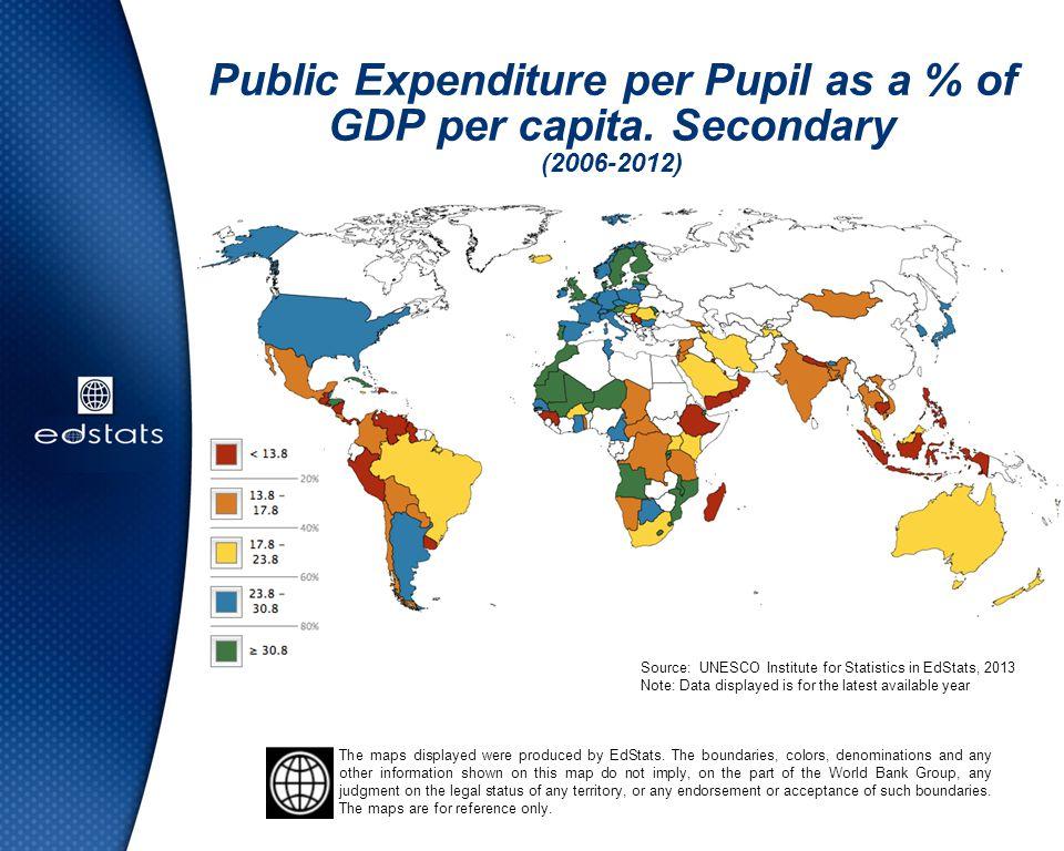 Public Expenditure per Pupil as a % of GDP per capita