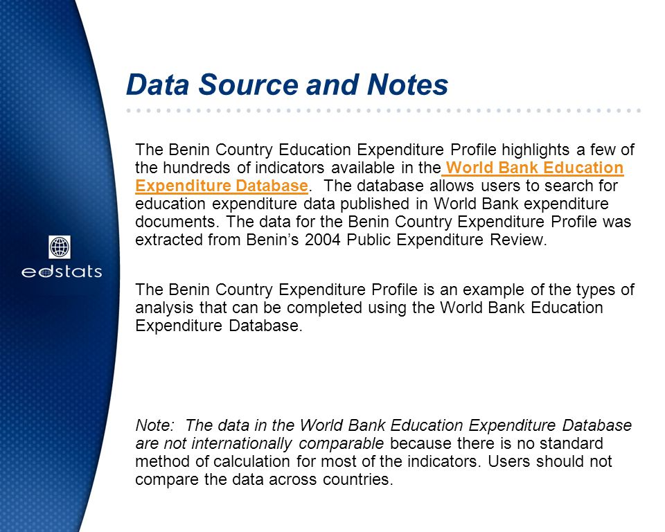 Data Source and Notes