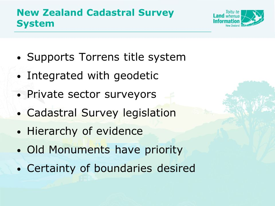 New Zealand Cadastral Survey System