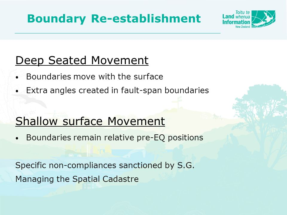 Boundary Re-establishment