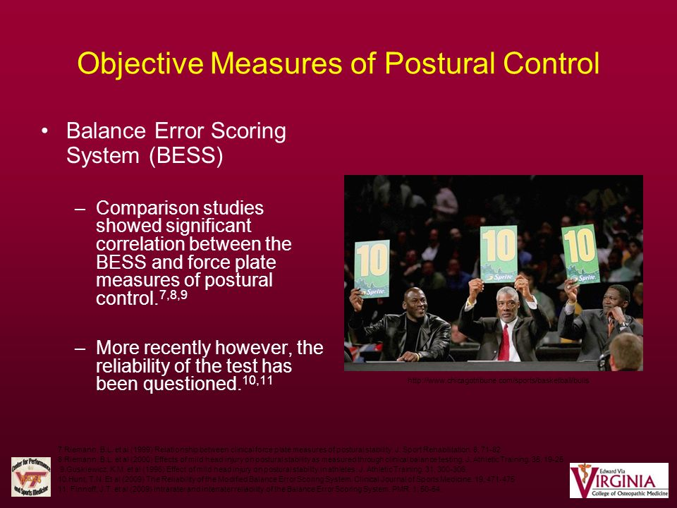Objective Measures of Postural Control