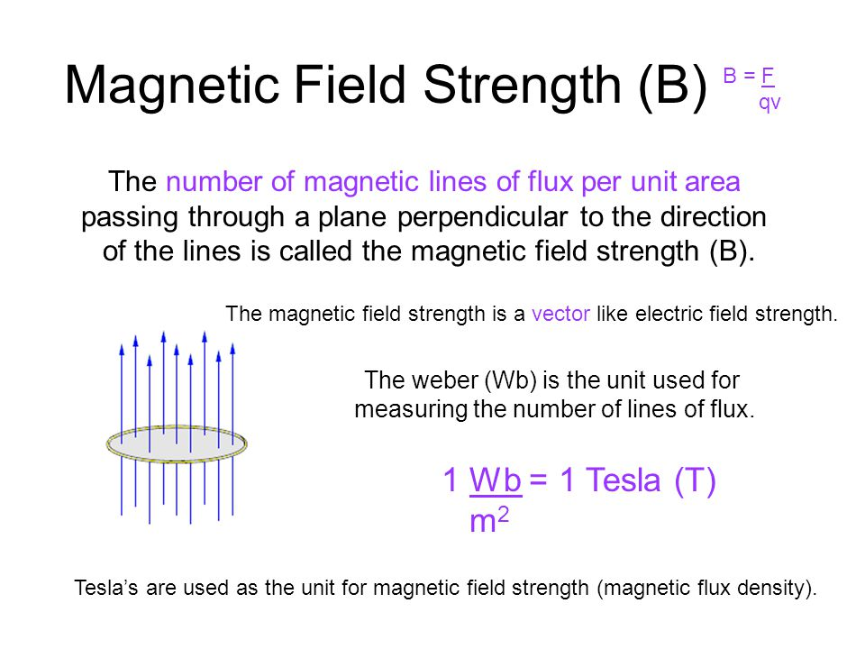 Magnetic Field Strength (B)