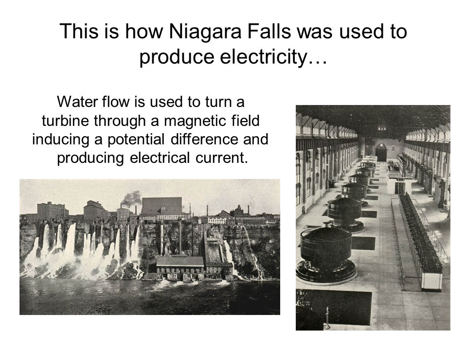 This is how Niagara Falls was used to produce electricity…