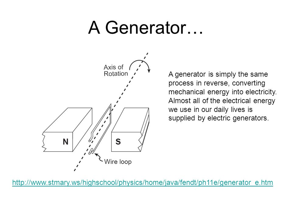 A Generator… A generator is simply the same
