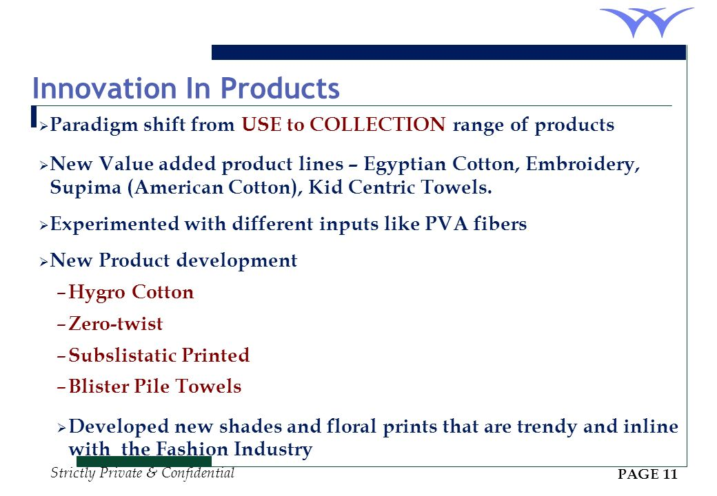 Innovation In Products