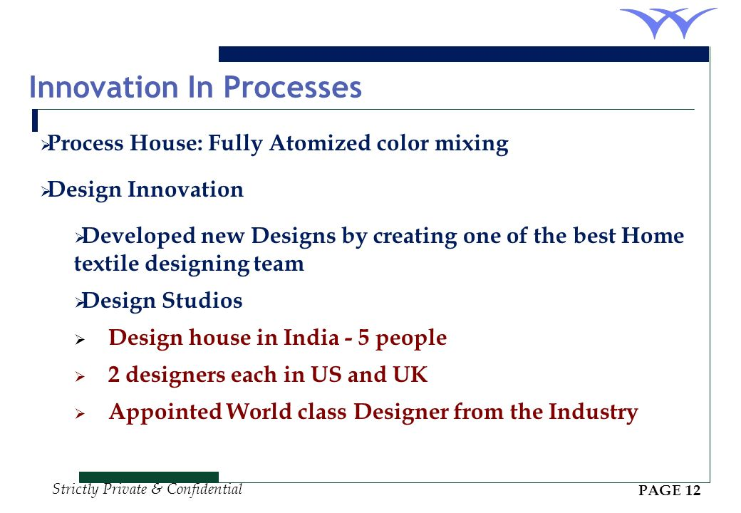 Innovation In Processes