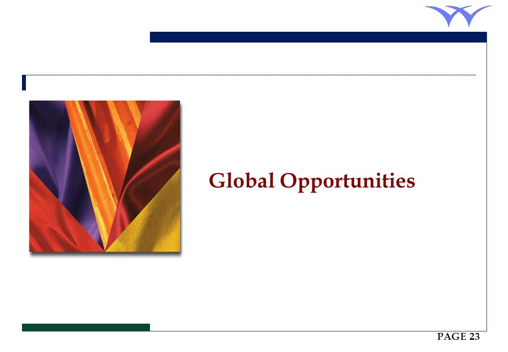 Global Opportunities PAGE 23