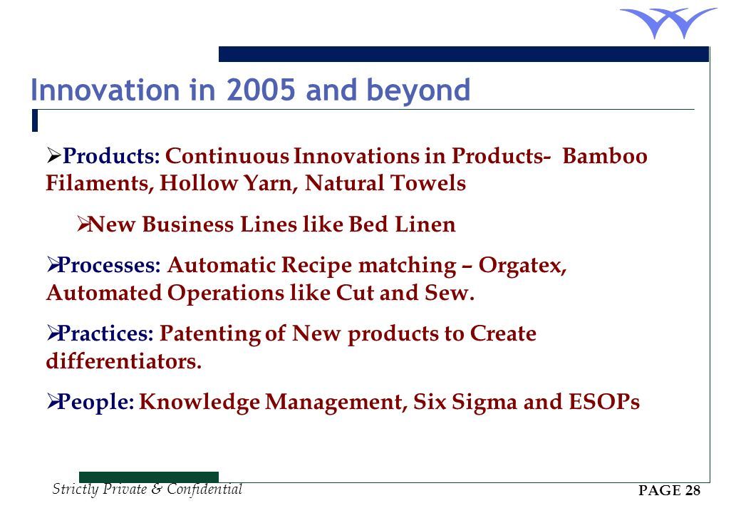 Innovation in 2005 and beyond