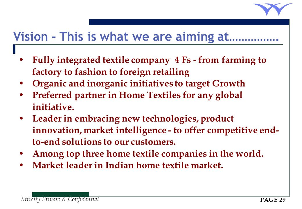 Vision – This is what we are aiming at…………….