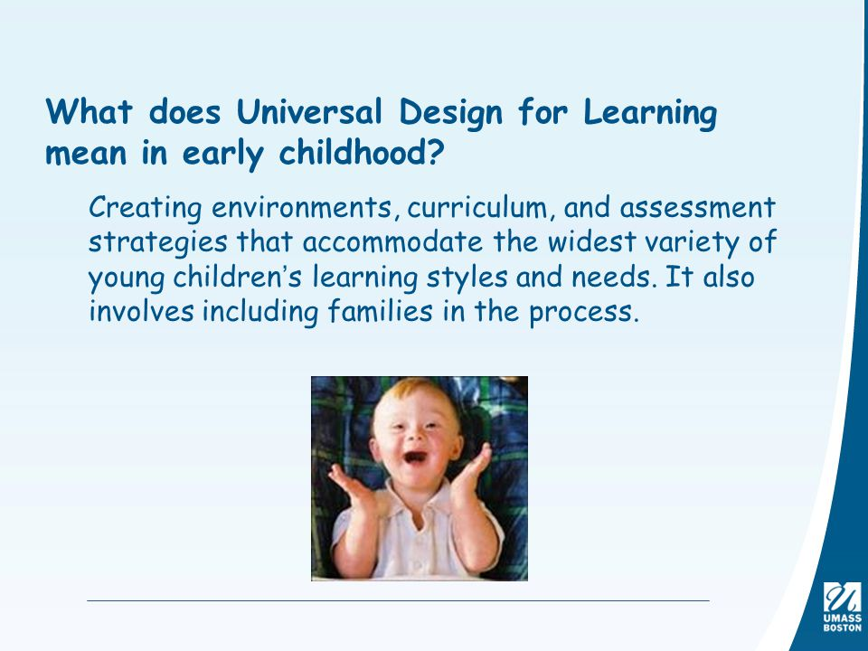 What does Universal Design for Learning mean in early childhood