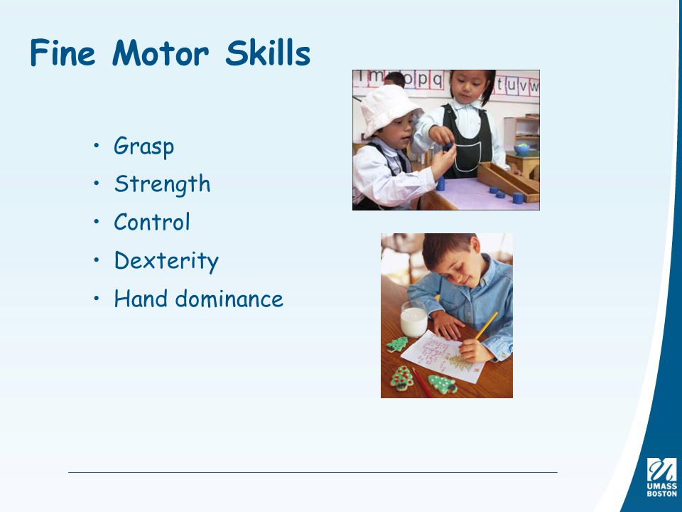Fine Motor Skills Grasp Strength Control Dexterity Hand dominance