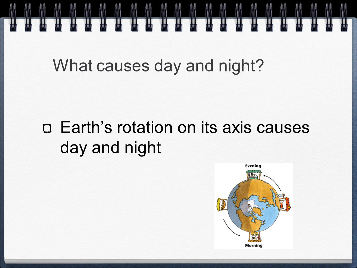 What causes day and night