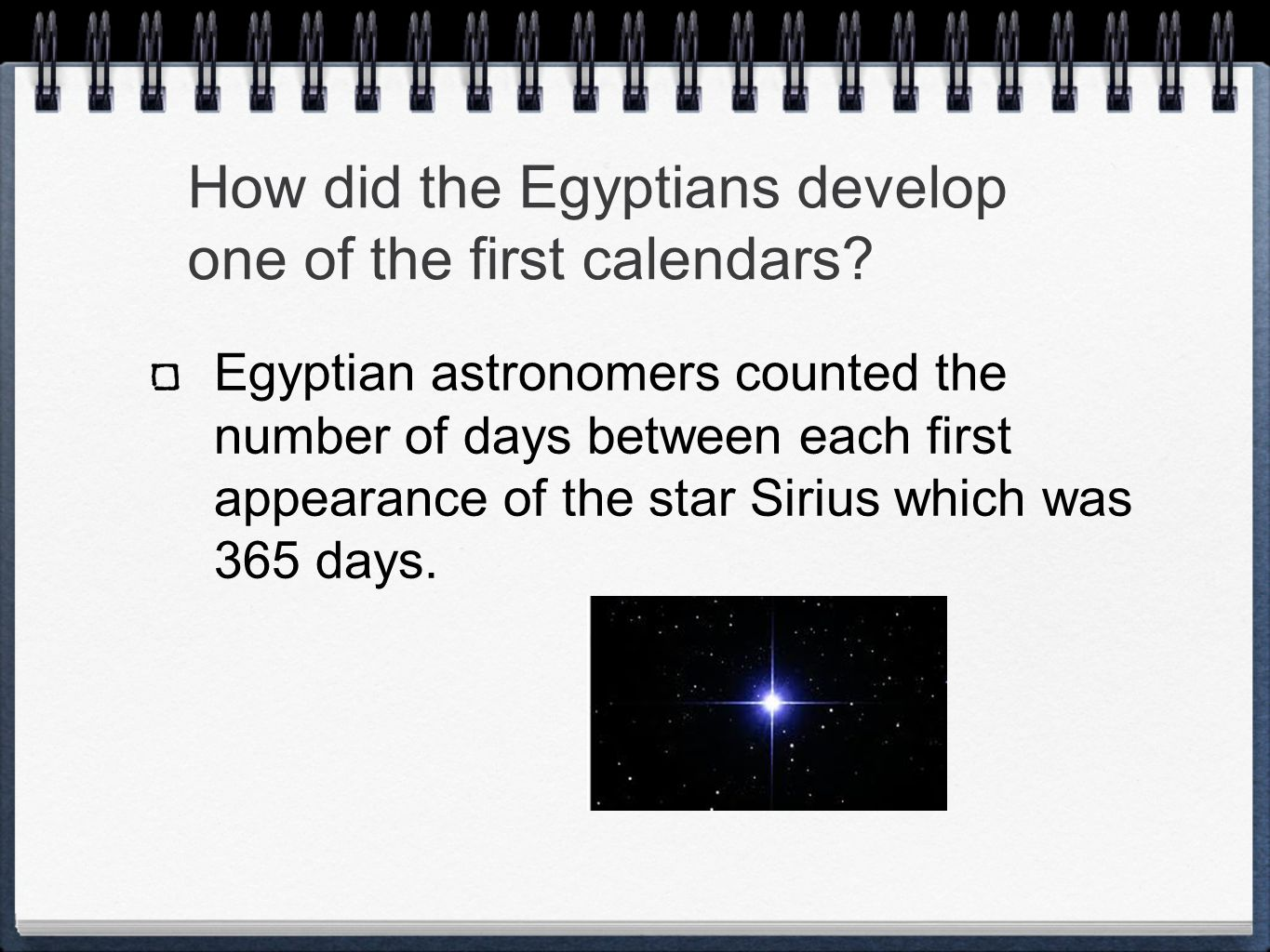 How did the Egyptians develop one of the first calendars