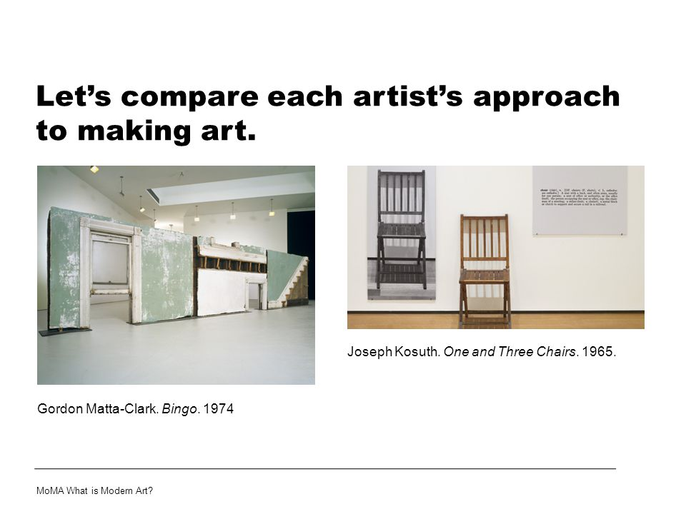 Let's compare each artist's approach to making art.