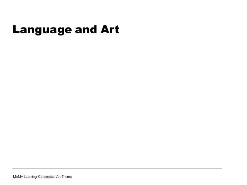 Language and Art Share this information with your students: