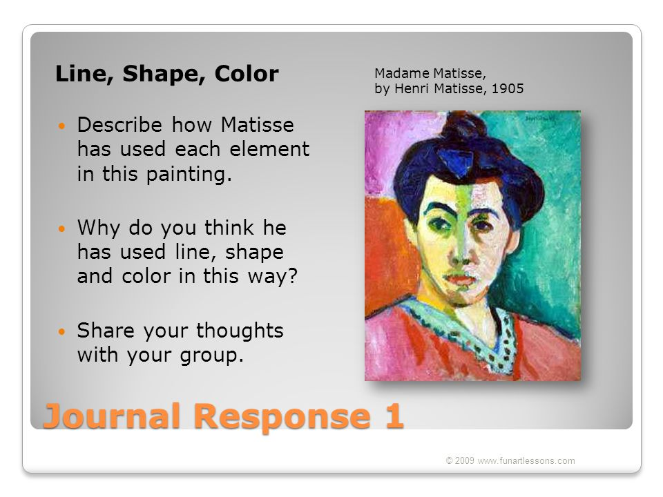 Journal Response 1 Line, Shape, Color