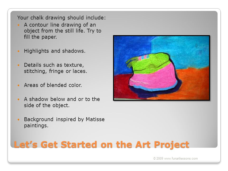 Let's Get Started on the Art Project