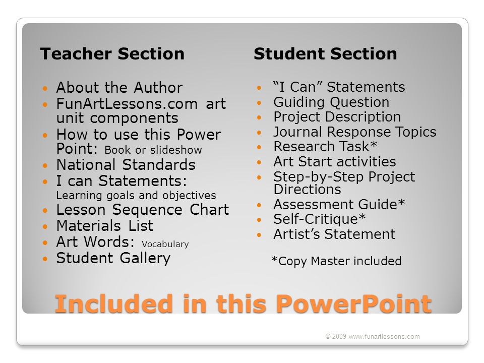 Included in this PowerPoint
