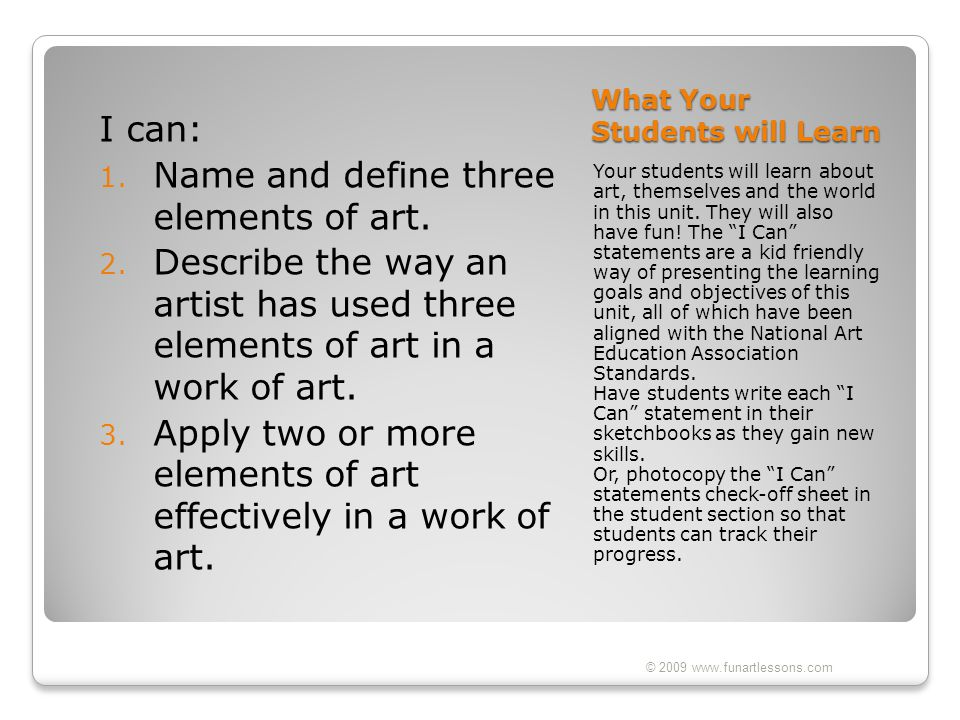 What Your Students will Learn
