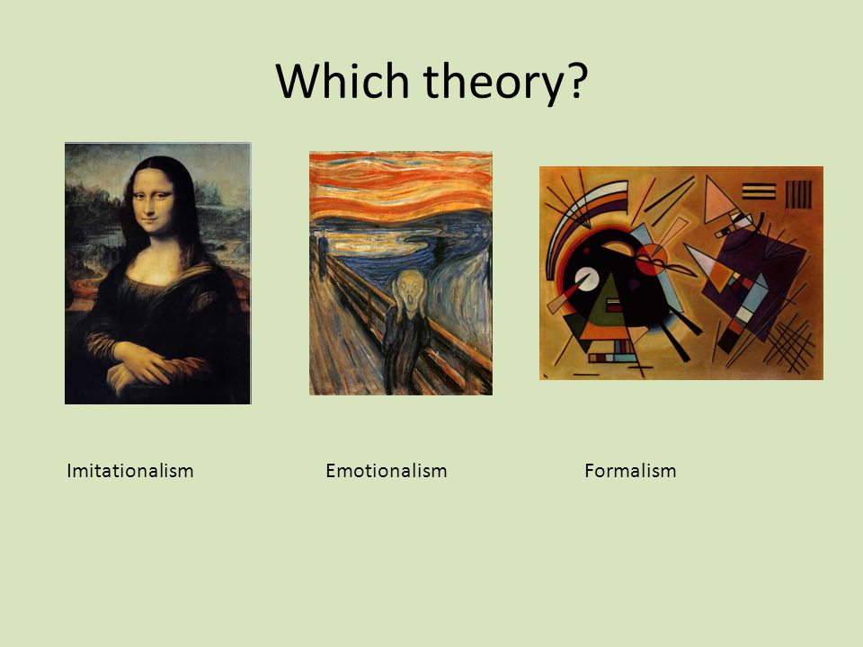 Which theory Imitationalism Emotionalism Formalism