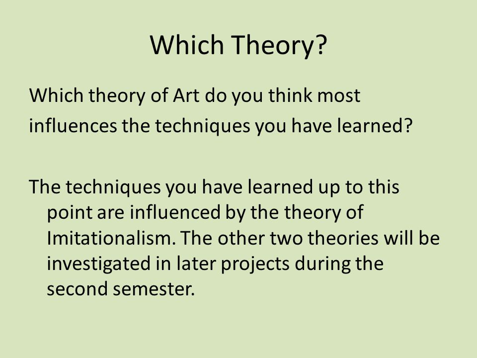 Which Theory