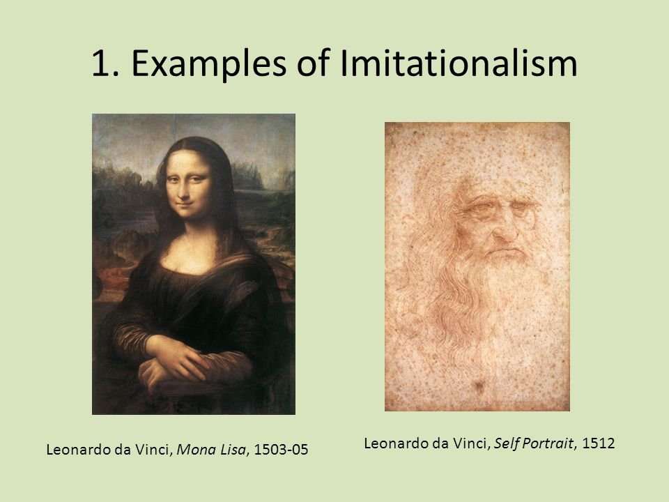 1. Examples of Imitationalism