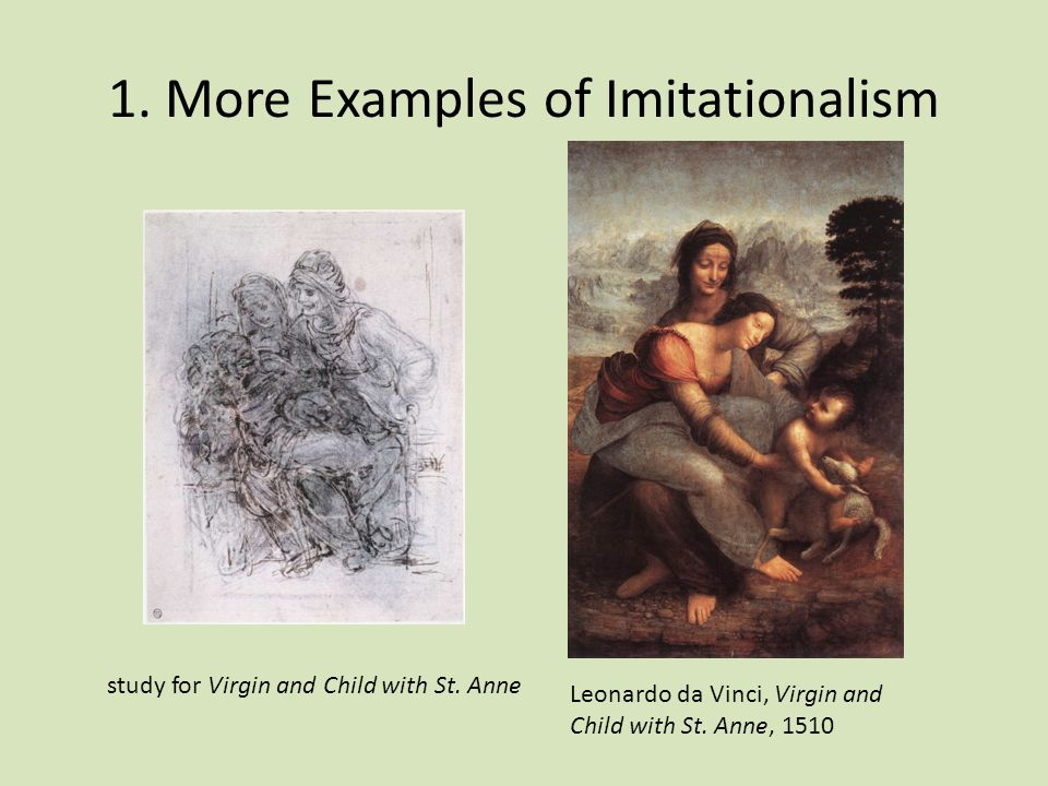 1. More Examples of Imitationalism