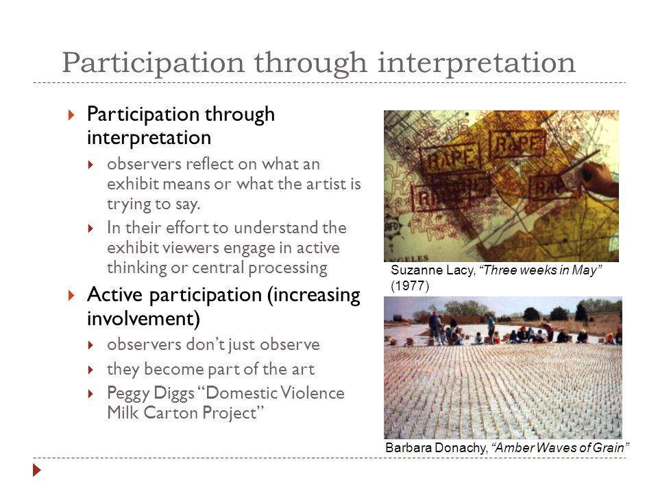 Participation through interpretation