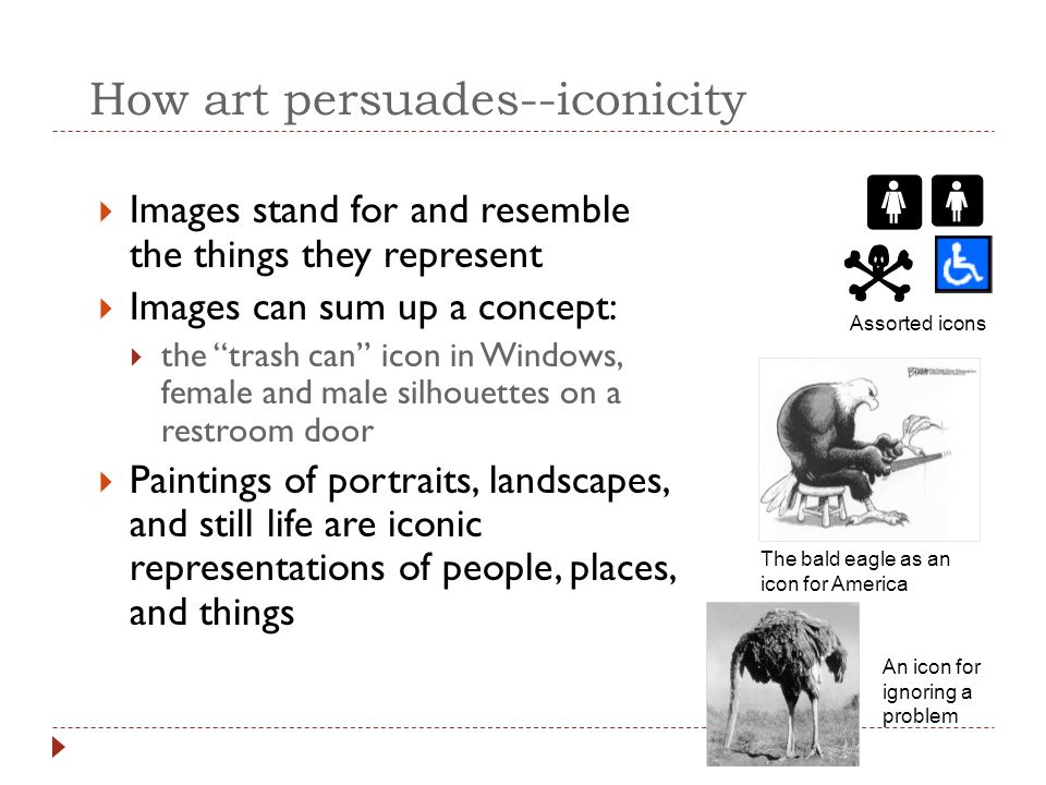 How art persuades--iconicity
